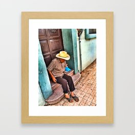 Old Men Framed Art Print