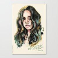 west coast Canvas Prints featuring   West Coast  by vooce & kat