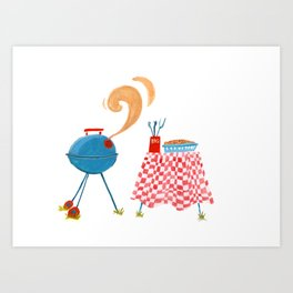 Southern Hygge: Barbecue Art Print