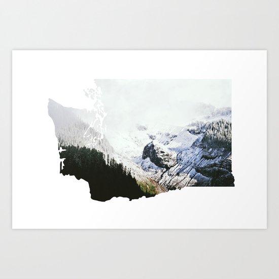 I Love Washington I Art Print