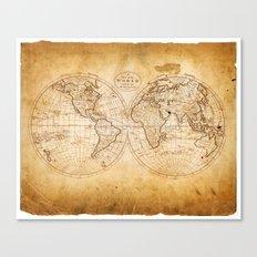 World in Hemispheres Canvas Print