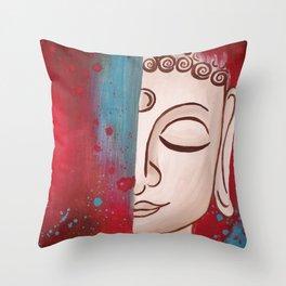 Mindful Buddha Throw Pillow