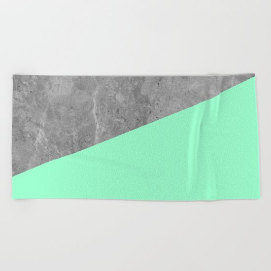 Geometry 101 Mint Meringue Beach Towel
