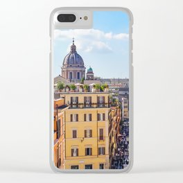 ROME the Streets:  Rooftop View of Rome, Italy Clear iPhone Case