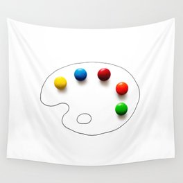 Artist's chocolate Wall Tapestry