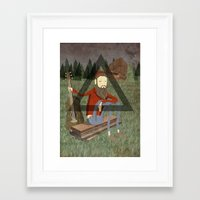 bon iver Framed Art Prints featuring Bon Iver by Doug Crookston