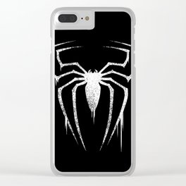 White Spider Symbol Clear iPhone Case