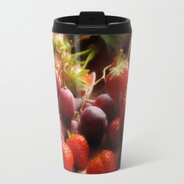 Fresh strawbeerie and Grapes to fall in love with Travel Mug