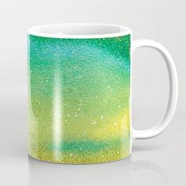 Yellow green milky way galaxy and starry sky Coffee Mug