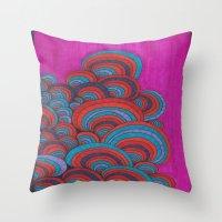 dr seuss Throw Pillows featuring Dr. Seuss 5 by Sarah J Bierman