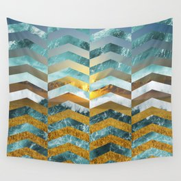 Golden Lapas -Wide Chevrons Wall Tapestry