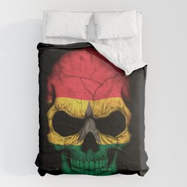 Dark Skull with Flag of Ghana Comforters