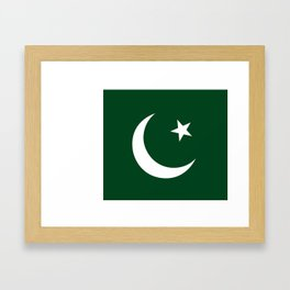 The National Flag of Pakistan - Authentic Version Framed Art Print