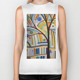 Abstract Art Original Landscape Painting ... The Sound of Sunshine Biker Tank