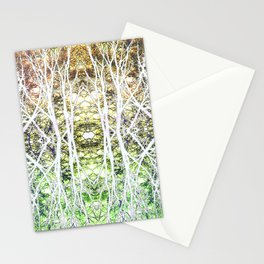 124 - White branches design Stationery Cards