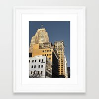 buildings Framed Art Prints featuring BUILDINGS by detroit vibes