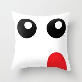 woomis [curious] Throw Pillow