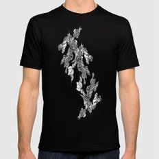 Abstract 1  Mens Fitted Tee Black MEDIUM