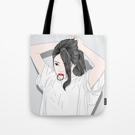 Hairstyles for women in modern style Tote Bag