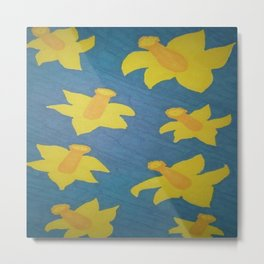 Pop Art Daffodils Metal Print