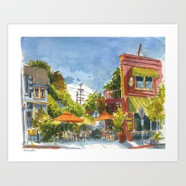 Buster's in the Heat Art Print