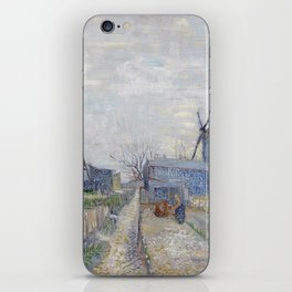 Montmartre - Windmills and Allotments by Vincent van Gogh iPhone Skin