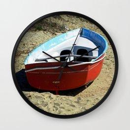 Red Row Boat Wall Clock