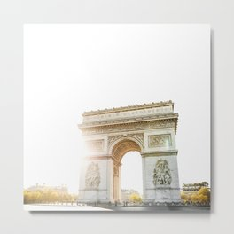 arc de triomphe in paris Metal Print
