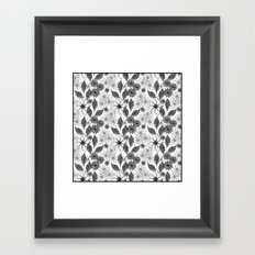 Flowers on a white background. Framed Art Print
