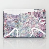new orleans iPad Cases featuring New Orleans  by MapMapMaps.Watercolors