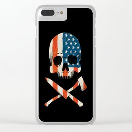 American P$ycho Clear iPhone Case