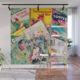 Little Vintage Library Wall Mural
