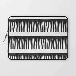 Abstract Blades of Grass in Black and White Laptop Sleeve