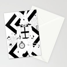Alice in Wonderland Series - I'm late, I'm late... for a very important date! Stationery Cards