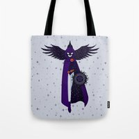 raven Tote Bags featuring RAVEN by badOdds