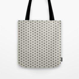 Flower of Life Print - Black/Cream Tote Bag