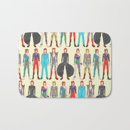 7 Red Heroes Heads Bath Mat