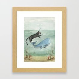Millie and Her Whale Framed Art Print