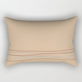 Sherwin Williams Ligonier Tan SW 7717 with Scribble Lines Bottom in Cavern Clay SW 7701 Rectangular Pillow