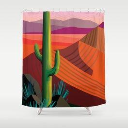 Phoenix Arizona Travel Poster Shower Curtain