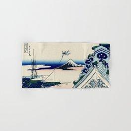 """Hokusai (1760-1849) """"Asakusa Hongan-ji temple in the Eastern capital [Edo]"""" Hand & Bath Towel"""