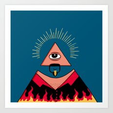 The All Seeing Eye Fieri  Art Print