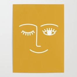 wink / mustard Poster