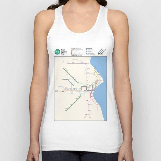 Milwaukee Transit System Map Unisex Tank Top