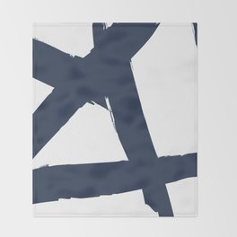 DEEP MATTE BLUE BRUSH Throw Blanket
