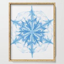 Snow Crystal III Serving Tray