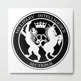 MI6 Logo (Millitary Intelligence Section 6) Metal Print