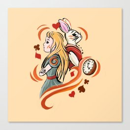 Alice and Wh Canvas Print