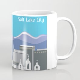 Salt Lake City, Utah - Skyline Illustration by Loose Petals Coffee Mug