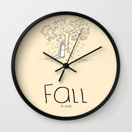 FALL in love Wall Clock